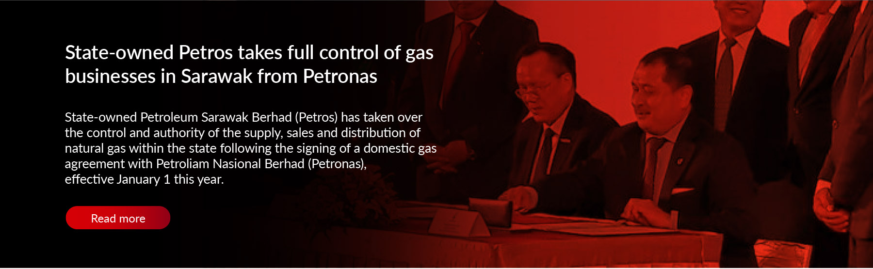 State-owned Petros takes full control of gas businesses in Sarawak from Petronas