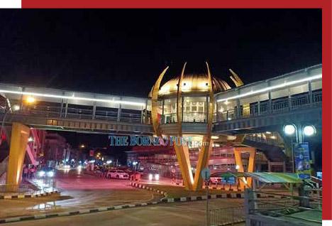 Newly completed three-way pedestrian bridge another beautiful landmark in Limbang