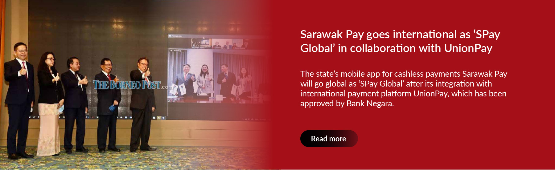 Sarawak Pay goes international as 'SPay Global' in collaboration with UnionPay