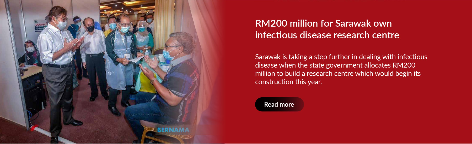 RM200 million for Sarawak own infectious disease research centre