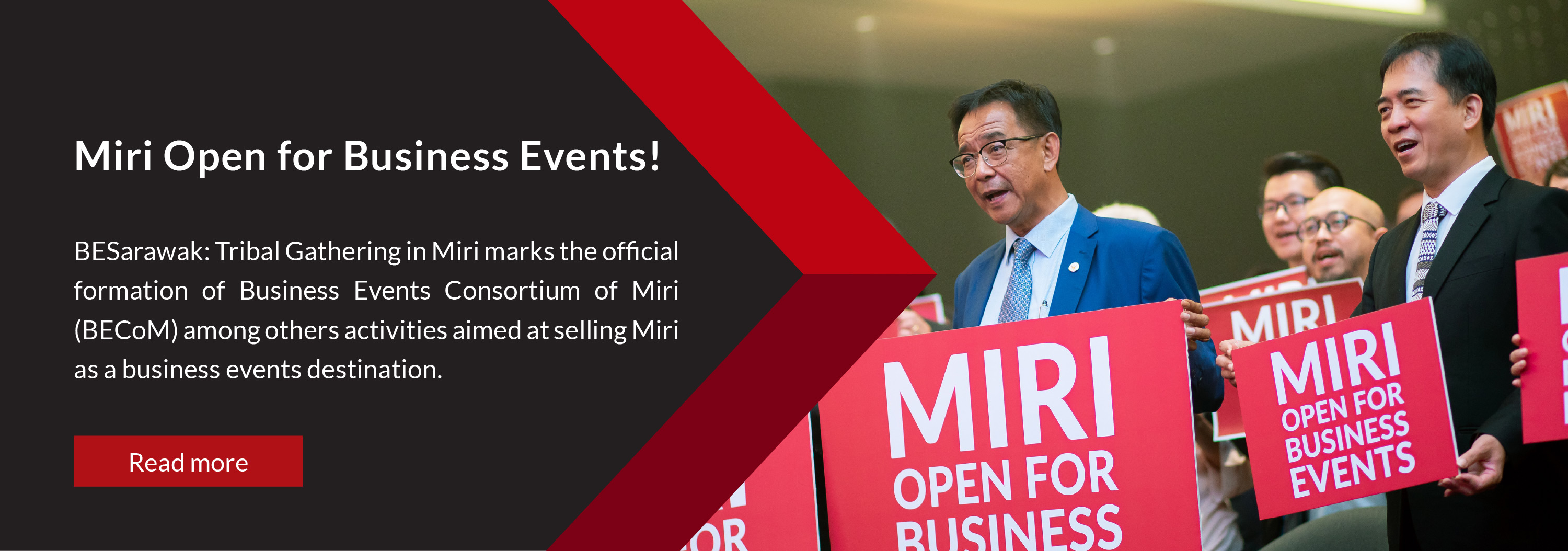 BESarawak: Tribal Gathering in Miri marks the official formation of Business Events Consortium of Miri (BECoM) among others activities aimed at selling Miri as a business events destination.